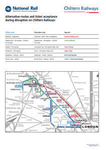 Alternative routes for Chiltern Railways