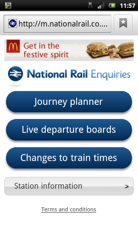 NRE Mobile Homepage