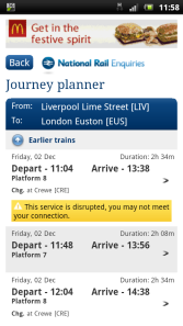 Plan a journey and find out about delays that might affect connections