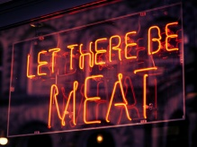 Let there be meat neon